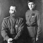 Николай II с сыном Алексеем