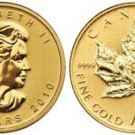 золотая инвест. монета Кленовый лист, Канада