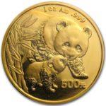 золотая инвест. монета Панда, Китай