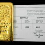 золотой слиток 1 кг, Швейцария