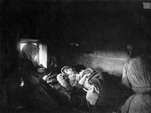 больные тифом, 1891-1892 гг.