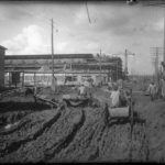УЗТМ, 17.08.1931 г. гужевой транспорт на главном заводском коридоре