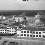 вид на лабораторию, ФЗУ и ул. Машиностроителей, 1936 г.