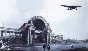 изначальный проект стадиона, автор Оранский, 1934 г.