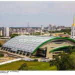 новое строение стадиона Уралмаш