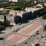 площадь, вид сверху со стороны ул. Красных борцов
