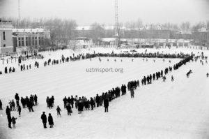 стадион Уралмаш зимой 1985 г.