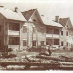 строится жильё для рабочих УЗТМ, 1942-43 гг.