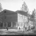 фабрика-кухня строится, 1932 г.