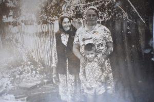 Зулейха с дочерью Рахимой и с внуком