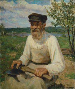Старик с топором. худ. И. Глазунов